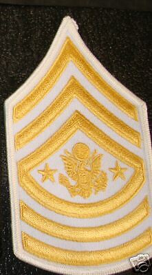 Sergeant Major Of The Army White Chevrons,5.5""
