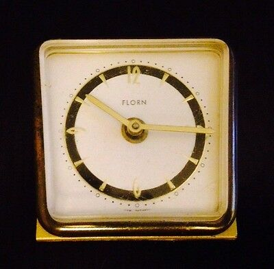 2 Travel Clocks Florn Clock  Vtg GERMANY Seth Thomas BRASIL alarm Clock