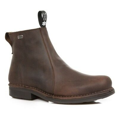 New Rock Mens M.1502-C4 Brown Cow Leather Boots - Urban,Goth,Punk,Shoes - [SO]