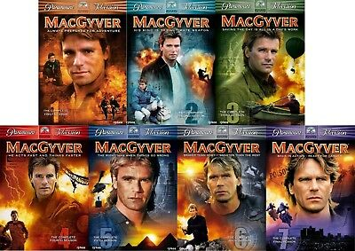MacGyver DVDs Season 1, 2, 3, 4, 5, 6 or 7 Final Richard Dean Anderson New