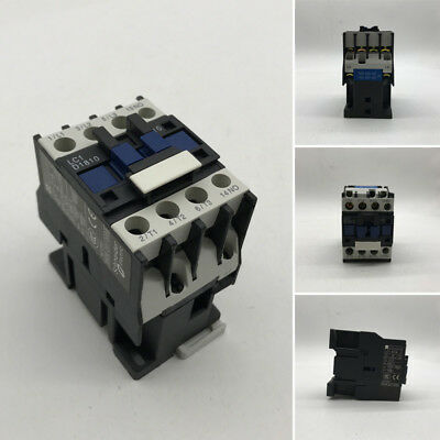 AC 220V Coil 32A 3-Phase 1 NO 50/60Hz Motor Starter Relay LC D1810 Contactor Kit