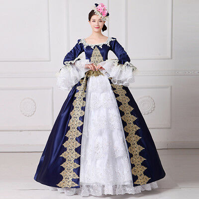 Victorian Medieval Renaissance Princess Dress Costume Theater Ball Gown Noble