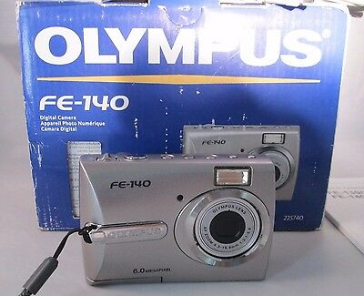 Olympus FE-140 6MP Digital Camera with 3x Optical Zoom For Parts Only-Non Workin