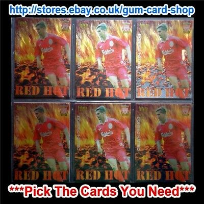 Futera - Liverpool Red Hot 1998 *please Choose Cards*