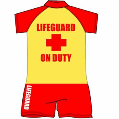 Childrens lifeguard Swimsuit Surf Suit Swimming Costume Swimwear Age 1-10 Years