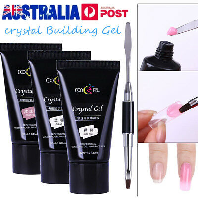 30ml Poly Gel Quick Building Gel Finger Extension Nail Gel Camouflage UV Brushes