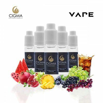 Cigma Summer Vibes Flavour Mix Pack E Shisha E Juice 5 x 10ml Flasche