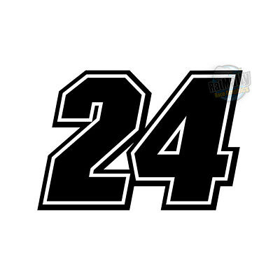 """RACE NUMBERS - DECALS STICKERS GRAPHICS - RATMALLY """"MAKINA"""" EDITION x3"""