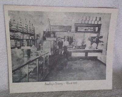 vintage CICERO Indiana Picture Copy on Old Cardboard?: Smalley's Grocery  6 of 6