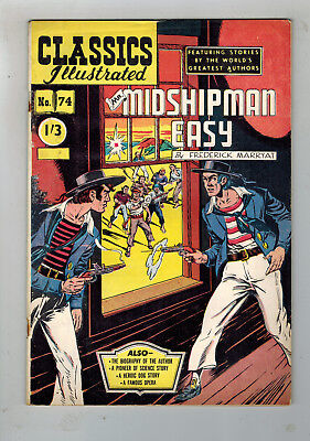 CLASSICS ILLUSTRATED COMIC No. 74 Mr. Midshipman Easy 1/3 HRN 129