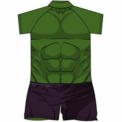boys hulk Swimsuit Surf Suit Swimming Costume Childrens Swimwear Age 1-10 Years