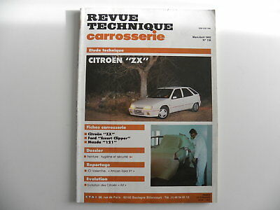 revue technique automobile carrosserie RTA Citroën ZX n°136