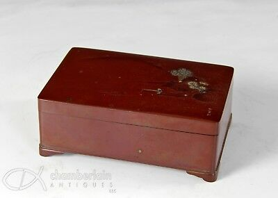 Antique Japanese Mixed Metal Bronze Covered Box By Nogawa #1