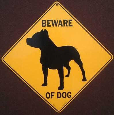 BEWARE OF DOG Sign decor dogs painting home signs pitbull art animals novelty