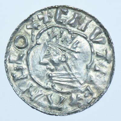 Scarce Cnut Penny (1016-35), Liofwine On Norwich, British Silver Hammered Coin
