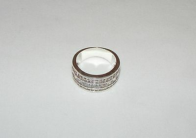 Sterling Silver Crystal Rhinestone Band Style Ring