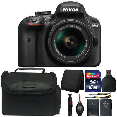 Nikon D3400 DSLR Camera with 18-55mm Lens and Ultimate Accessory Bundle