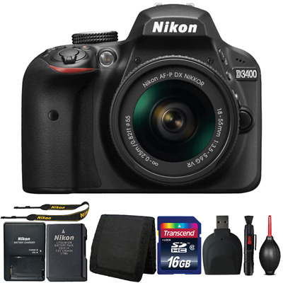 Nikon D3400 DSLR Camera with 18-55mm Lens and Accessory Bundle