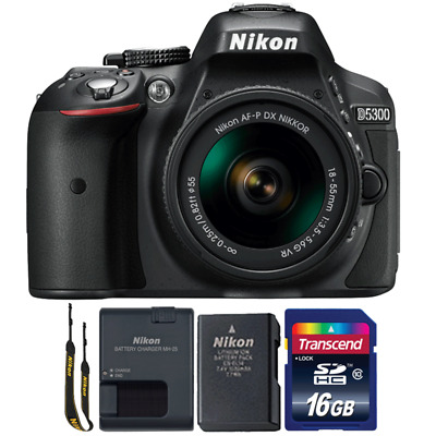 Nikon D5300 24.2MP DSLR Camera with 18-55mm Lens and 16GB Memory Card