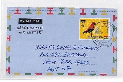 BU310 1968 Ghana SURCHARGE AIR LETTER *Nkroful* Airmail {samwells-covers}PTS