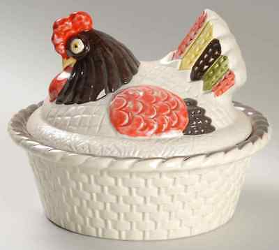 Metlox Poppytrail RED ROOSTER 1.5 Quart Round Covered Casserole Dish 1984185