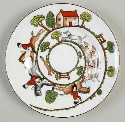 Crown Staffordshire HUNTING SCENE Bread & Butter Plate 95115