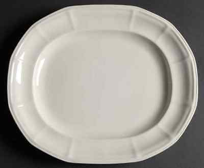 """Iroquois MUSEUM WHITE 12 3/4"""" Oval Serving Platter 269064"""
