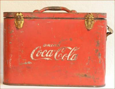 Coca Cola Airline Cooler With Opener Vintage Narrow Type