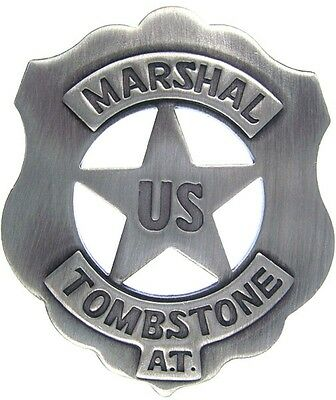 Old West US Marshall Tombstone Badge (Replica)