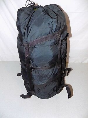 9 Strap Black US Military Issue Sleeping Bag Compression Stuff Sack VG cond