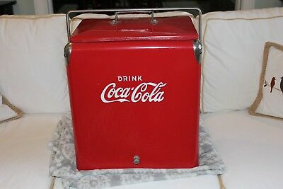 Original 1950's Coca Cola Cooler Galvanized Interior