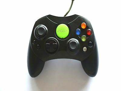 Official Genuine Microsoft Xbox S Original Wired Controller Game Pad Black