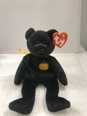 TY HAUNT the HALLOWEEN BEAR BEANIE BABY - MINT with MINT TAG (4a)