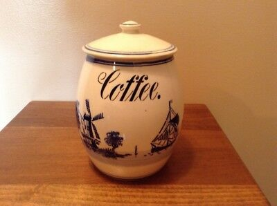 Vintage GMT & Bro. Germany blue. dutch coffee cannister