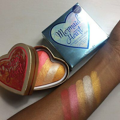 MakeUp Revolution I Heart Blushing Bronzer Highlighter Dragons Mermaids Sealed