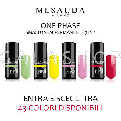 Mesauda One Phase Smalto Semipermanente Gel Uv 3 In 1 Unghie Nails | 43 Colori