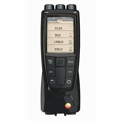 """Testo 480 (0563 4800) High-End IAQ Instrument, """"Easyclimate"""" PC Software"""