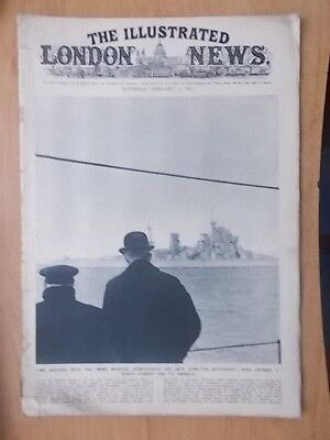 WWII ILLUSTRATED LONDON NEWS - MAY 17th 1941 - H.M.S. KING GEORGE V