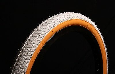 2 of COLOURED STREET BMX TYRES TIRES WHITE GUMWALL 20 X 2.125 LS214