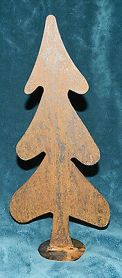 Primitive Large Heavy Rusty Hand Crafted Metal Tree! Christmas