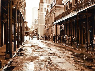 Post Card Of A Street In The French Quarter  From An Old Photograph
