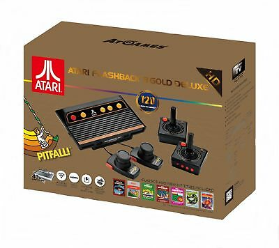 Atari Flashback 8 Gold Deluxe with 120 Games - Includes 2 Controllers and 2 P...