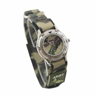 KAS Kids Army Camouflage Watch Boys Gilrs Solider Gift Military Wrist Watch Gift
