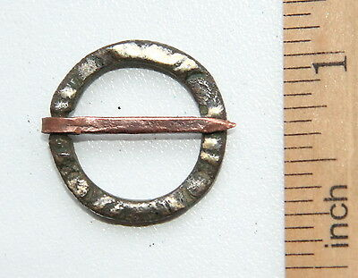 Ancient Old Ornament Bronze Fibula Brooch (DCR19)