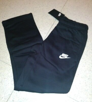 NWT Nike Sportswear Youth Boys Fleece Sweat Pants 805496 011 Black