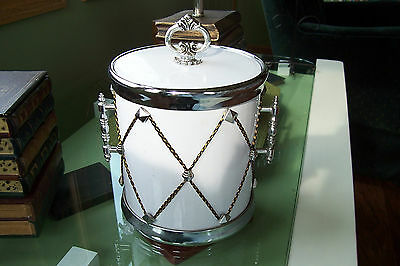 Vintage Drum Ice Bucket SWhite Snare Music Cooler Alcohol Bar Mancave