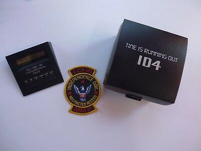 """Independence Day ID4 1996 Film """"Time is Running Out"""" Timer/Patch/DVD/CD Promo"""
