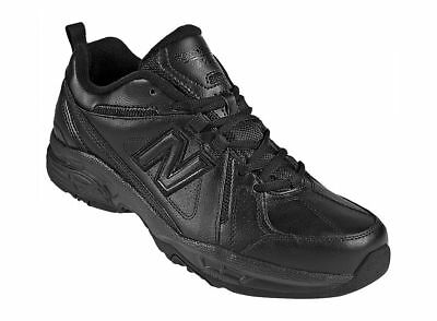 New Balance 608 Men's Black Leather Shoes, #mx608V3B
