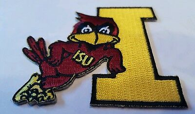 """ISU Iowa State Cyclones Vintage Embroidered Iron On Patch 3"""" x 3"""""""
