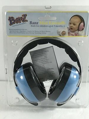 Banz Baby Toddler Mini Earmuffs Blue 3+ Months Hearing Protection